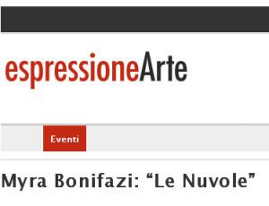 """EspressioneArte: Myra Bonifazi: """"Le Nuvole"""""""